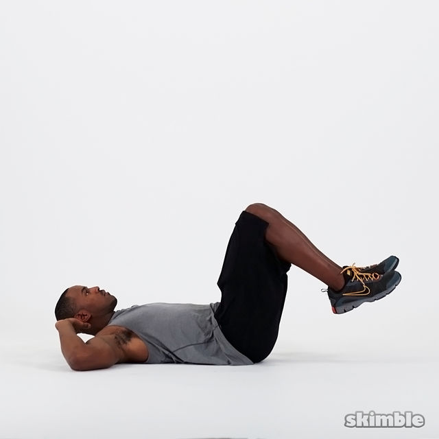 How to do: Double Crunches - Step 1