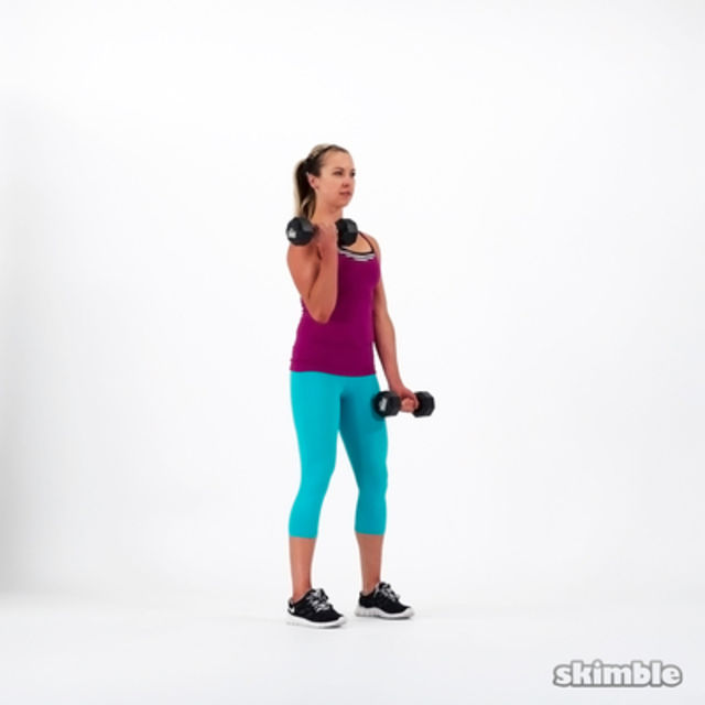 How to do: Alternating Bicep Curls - Step 3
