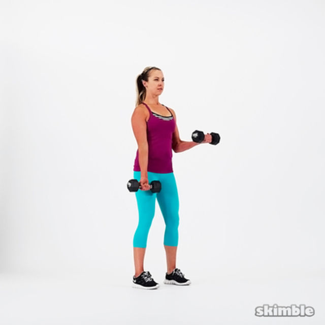 How to do: Alternating Bicep Curls - Step 5