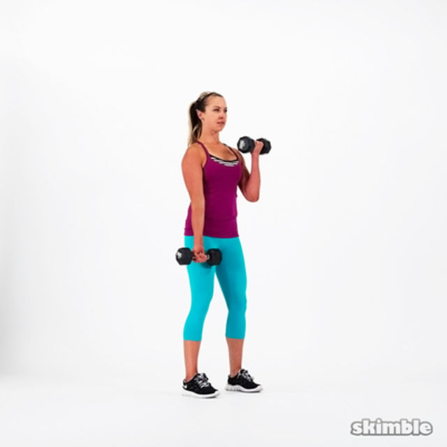 How to do: Alternating Bicep Curls - Step 6