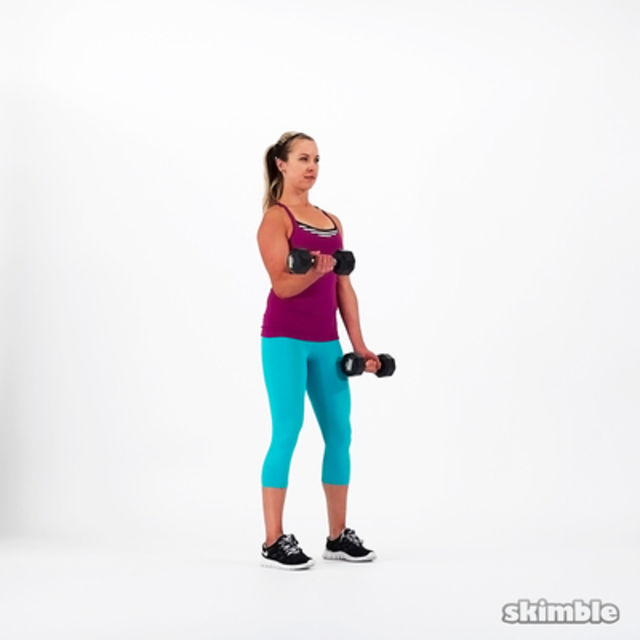 How to do: Alternating Bicep Curls - Step 2