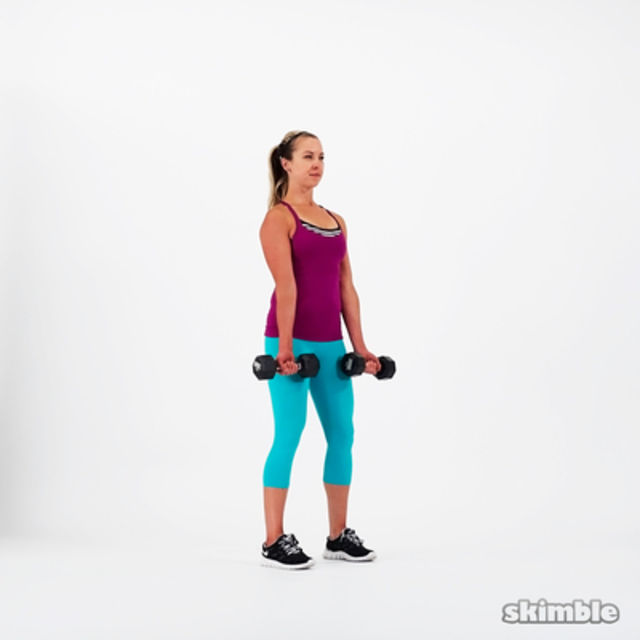 How to do: Alternating Bicep Curls - Step 1