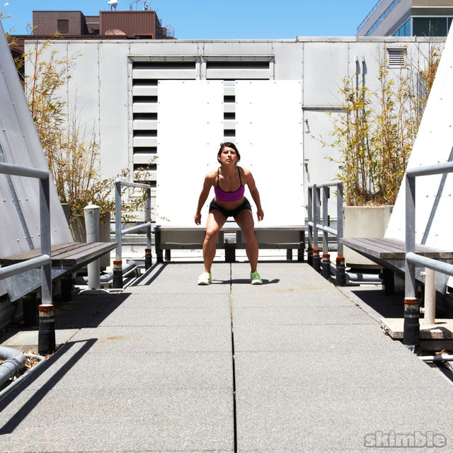 How to do: Traveling Squat Hops - Step 2
