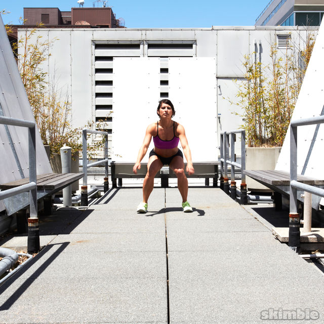 How to do: Traveling Squat Hops - Step 4