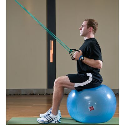 10 Lat Pull-Down on a Stability Ball