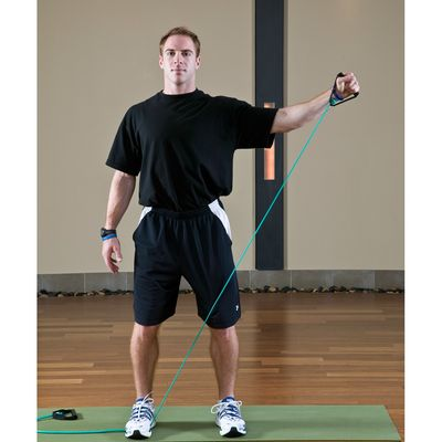 10 Left External Arm Rotations with Diagonal Reach
