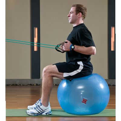 10 Seated Row on a Stability Ball