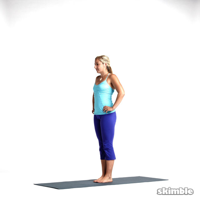 How to do: Knee Raise to Left Warrior 3 - Step 4