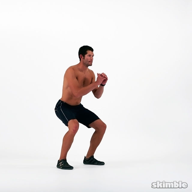 How to do: Bottom to Bottom Squats - Step 2