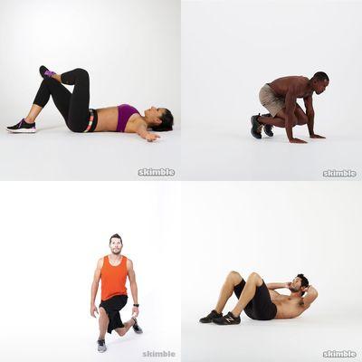 ejercicio lunes cola y pierna