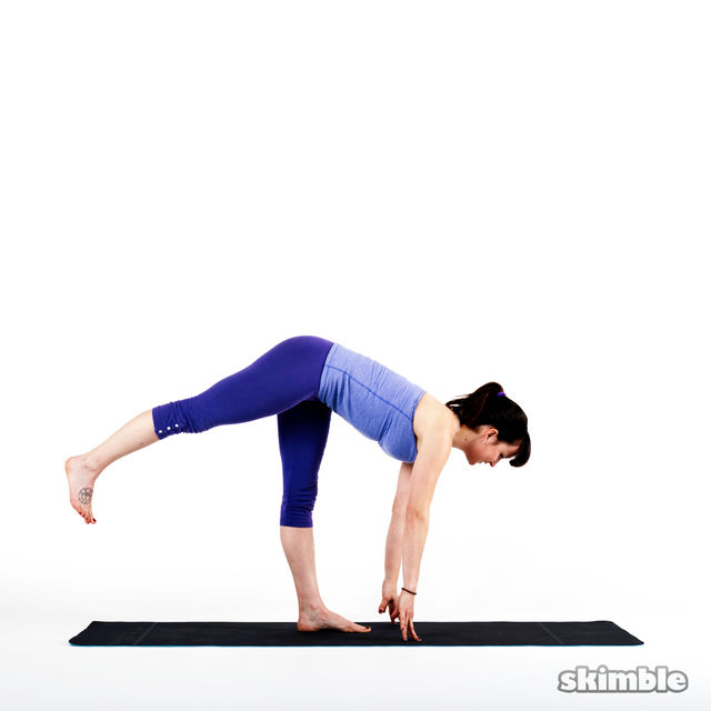 How to do: Left Warrior 3 - Step 2
