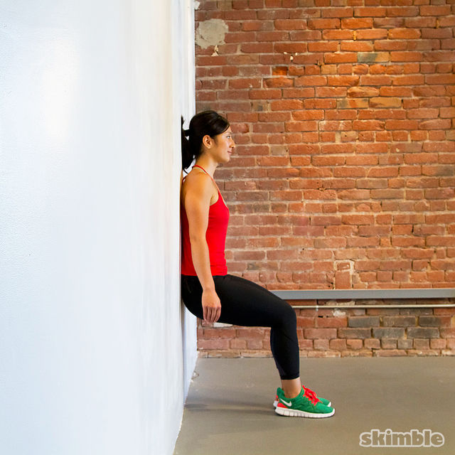 How to do: Wall Sit - Step 4