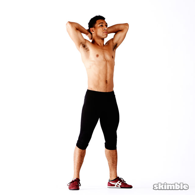 How to do: Elbows-Out Chest Stretches - Step 1