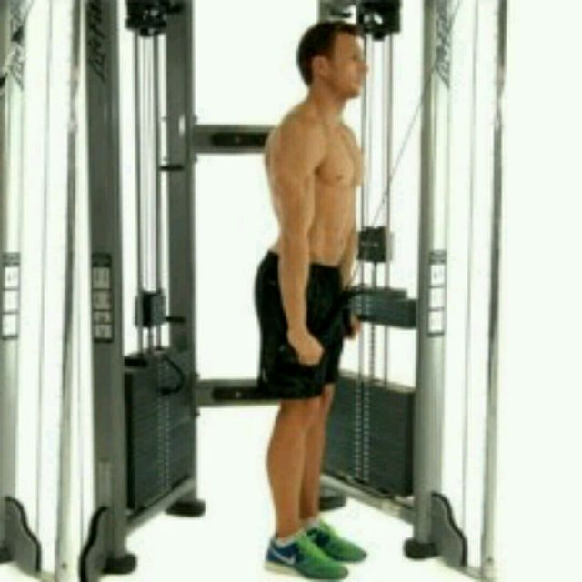 How to do: Tricep Rope Pulldown - Step 2
