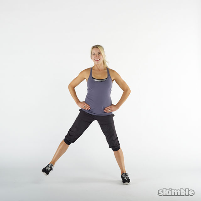 How to do: Side Lunges - Step 2