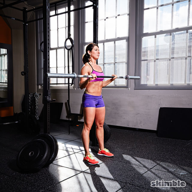 How to do: Barbell Reverse Curl to Press - Step 3