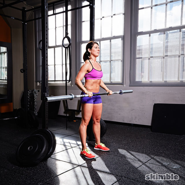 How to do: Barbell Reverse Curl to Press - Step 2