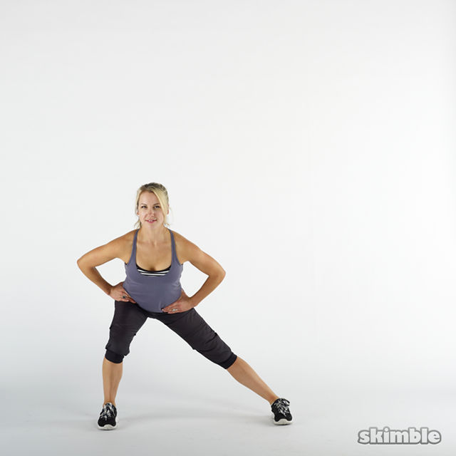How to do: Side Lunges - Step 3