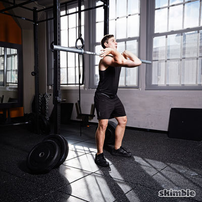 Dumbbell Front Squats Six Reps