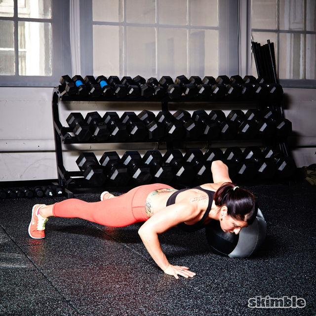 How to do: Medicine Ball Offset Push-Ups - Step 5
