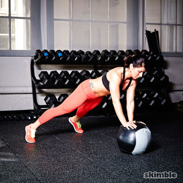 How to do: Medicine Ball Offset Push-Ups - Step 3
