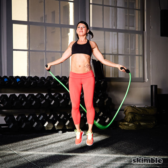 How to do: Backwards Jump Rope - Step 4