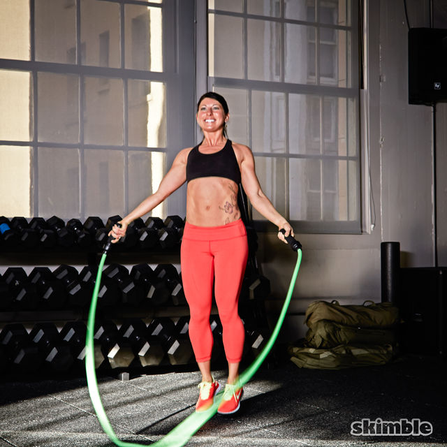 How to do: Side Jump Rope - Step 4