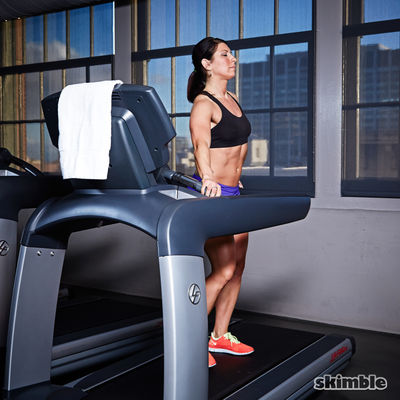 Right Side Treadmill Squats