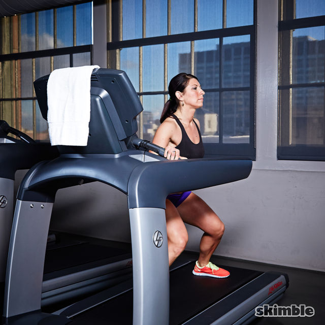How to do: Side Squats on Treadmill - Step 6