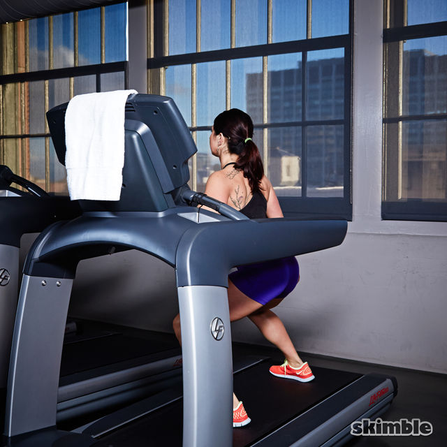 How to do: Side Squats on Treadmill - Step 2