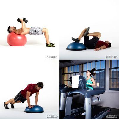 Bosu and Stability Balls