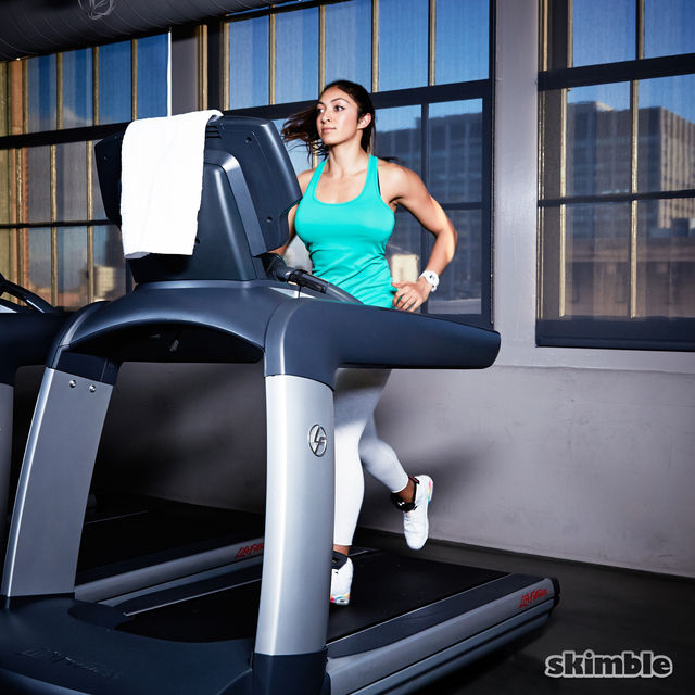 How to do: Incline Jog on Treadmill - Step 1