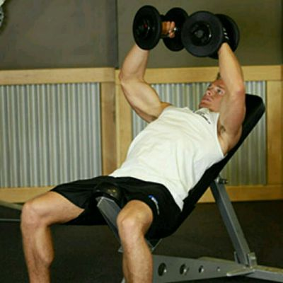 Incline Dumbell flyes