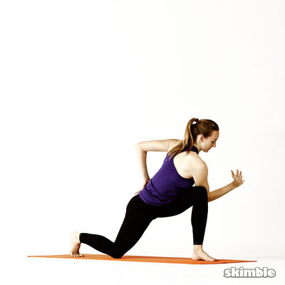 Left Twisting Low Lunge