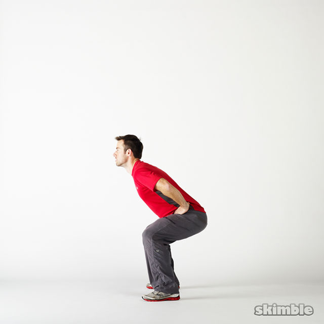 How to do: Squat Hops with a Quarter Turn - Step 8