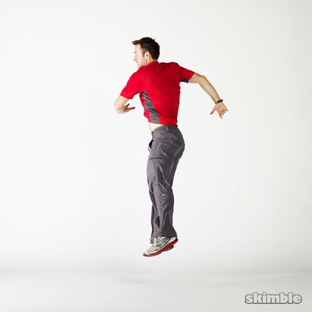 How to do: Squat Hops with a Half Turn - Step 5