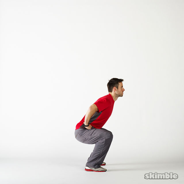 How to do: Squat Hops with a Quarter Turn - Step 4