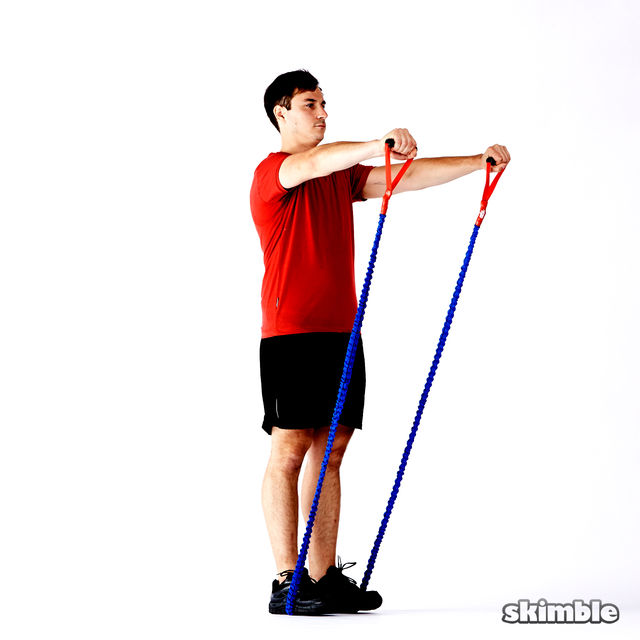 How to do: Band Front Raises - Step 2