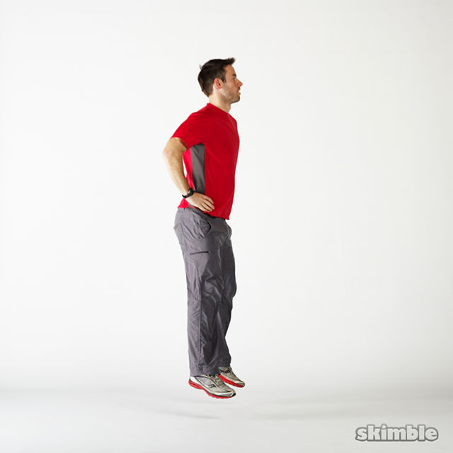 How to do: Squat Hops with a Half Turn - Step 3