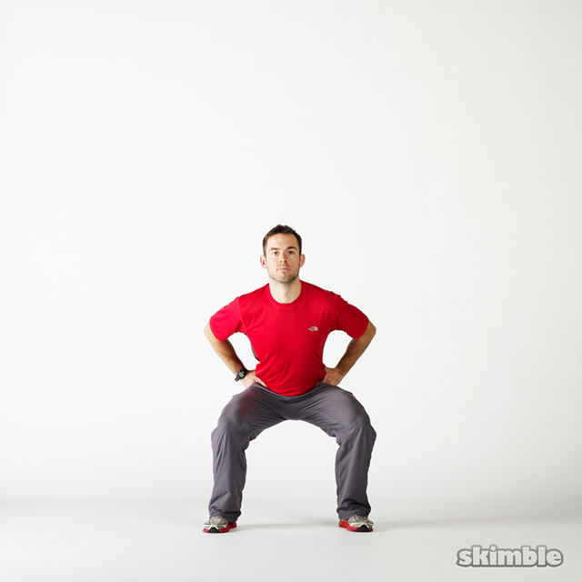 How to do: Squat Hops with a Half Turn - Step 2