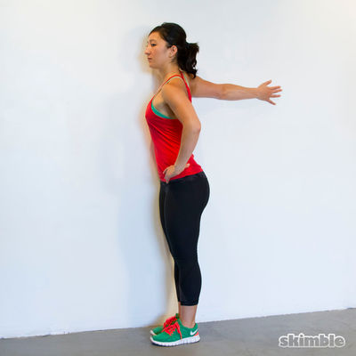 Left Arm Chest Stretch