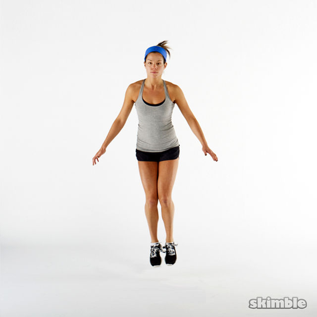 How to do: Front Back Hops in Place - Step 2