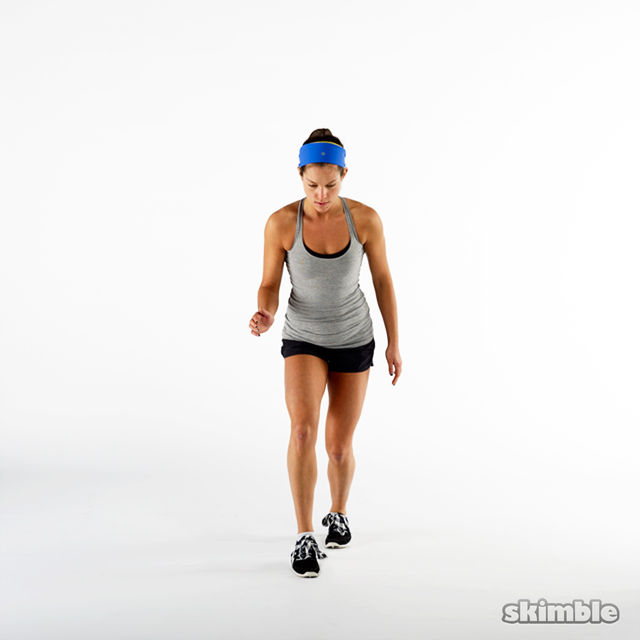 How to do: Front Back Hops in Place - Step 1