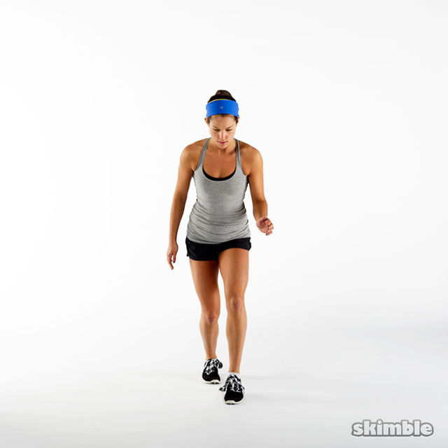 How to do: Front Back Hops in Place - Step 3