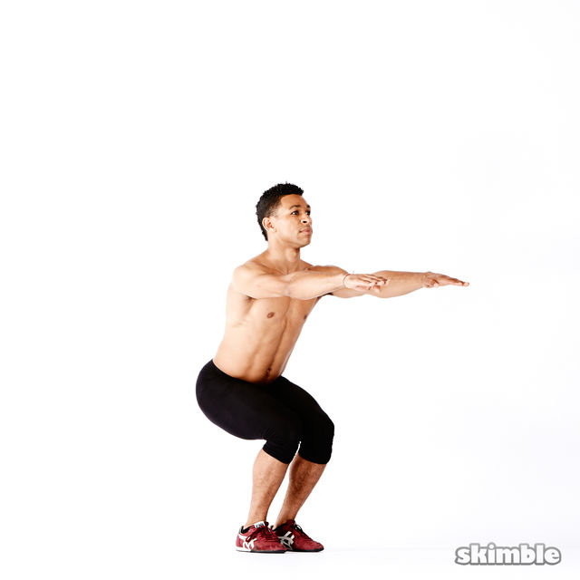 How to do: Narrow Squat Holds - Step 2