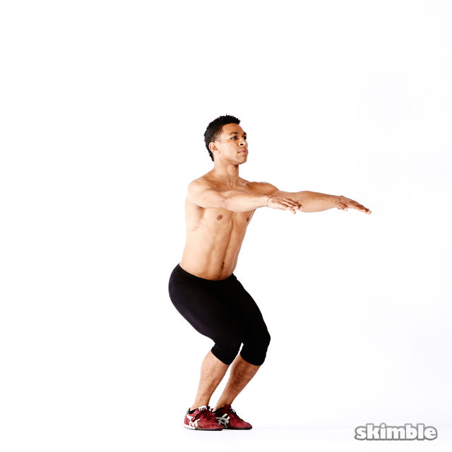 How to do: Narrow Squats - Step 6