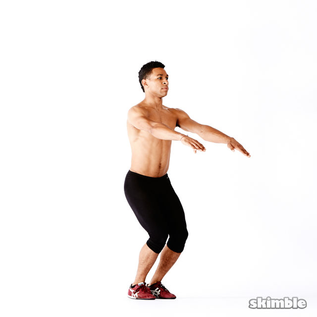 How to do: Narrow Squats - Step 4