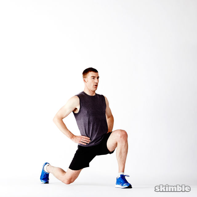 How to do: Deep Lunges - Step 2