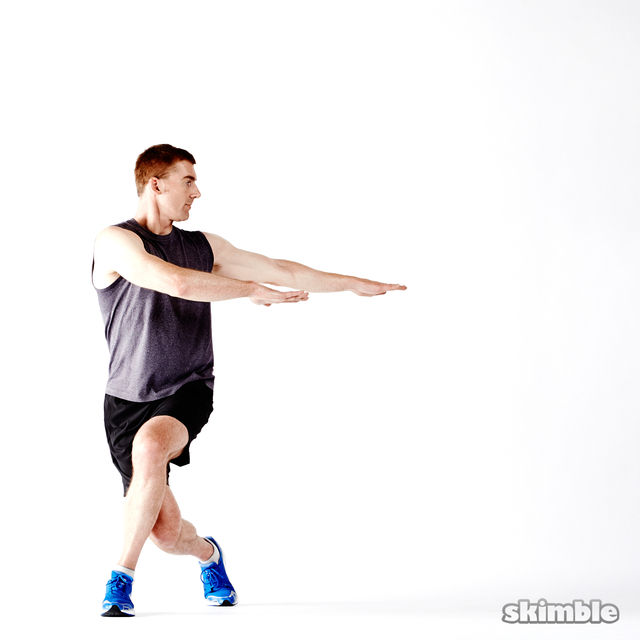 How to do: Glute Twist Lunges - Step 5