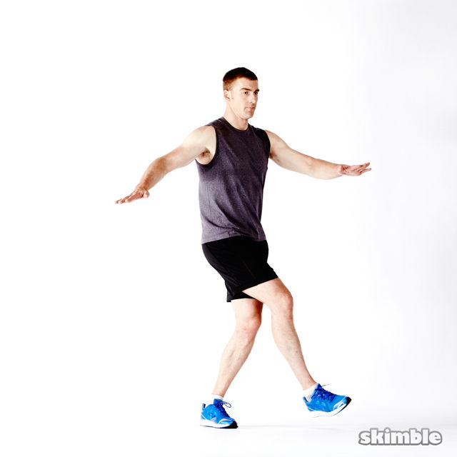 How to do: Glute Twist Lunges - Step 2